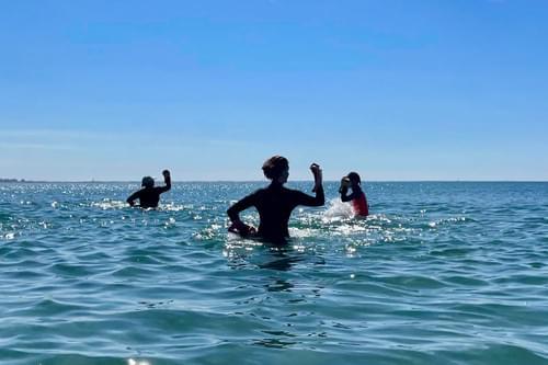 Cours d'aquaboxing en mer (Carnon - 34)