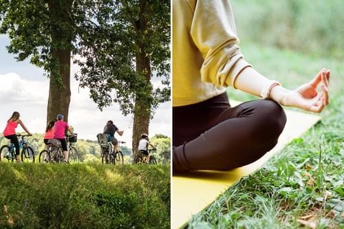 Balade à vélo & cours de yoga (Calvisson - 30)