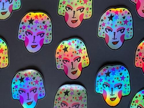 MintStar Mothie Holographic Fun Sticker 4X4