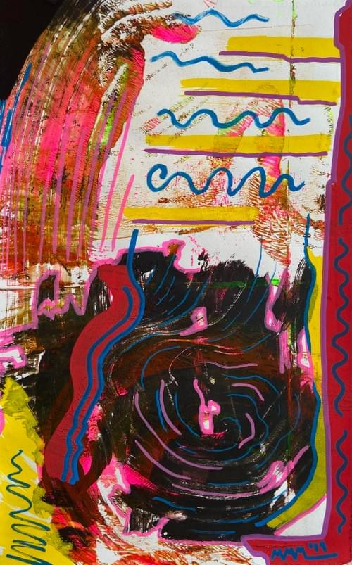 """""""Are We Safe in This Swirl"""" 7.5 X 11 Inches"""