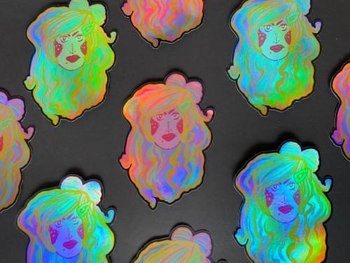 UnimpressedDreamCandy Mothie Holographic Sticker 4X5 inches