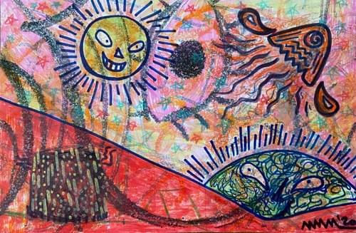 """""""Can We Still Trust The Suns?"""" - Monotype - 6 by 9 inches"""