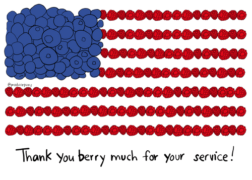 Thank You Berry Much for Your Service