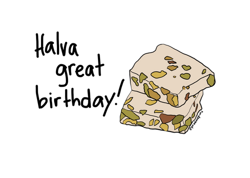 Halva great birthday (B006)