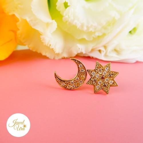 太陽と月のピアス(参考価格)