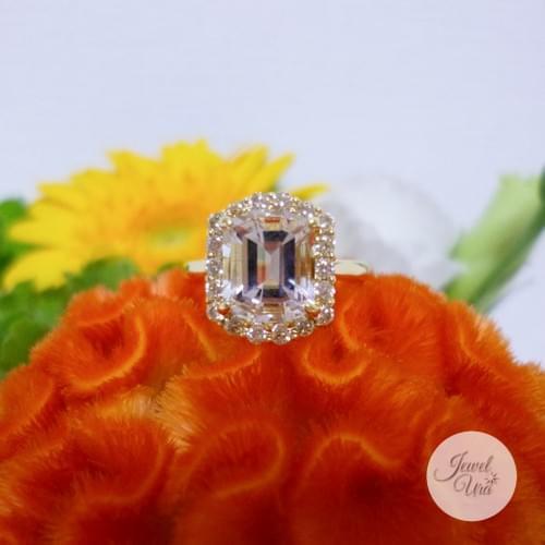 ゴシェナイトとイエローメレダイヤのリング