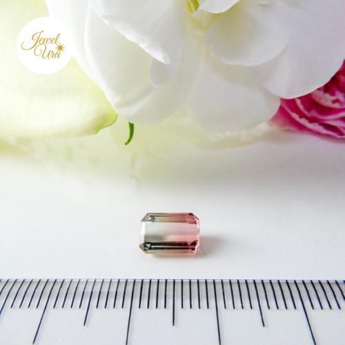 《ルース》バイカラートルマリン(ペールグリーン/コーラルピンク)②