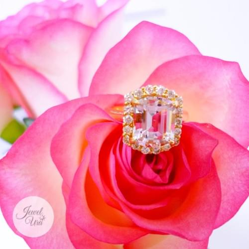 ゴシェナイトとイエローメレダイヤのリング(参考価格)
