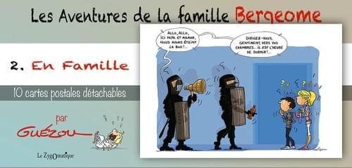 """2. En Famille - Collection """"Les Aventures de la famille Bergeome""""  par Guézou"""