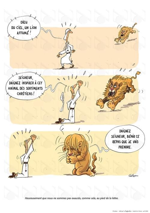 Le missionnaire et le lion