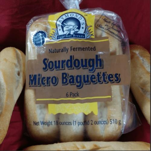 6 pk. Raymond's Gourmet Sourdough Micro Baguettes