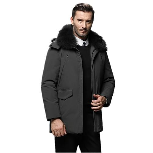 Dad's 2020 winter new men's down jacket thickened warm middle-aged and elderly coat fur collar