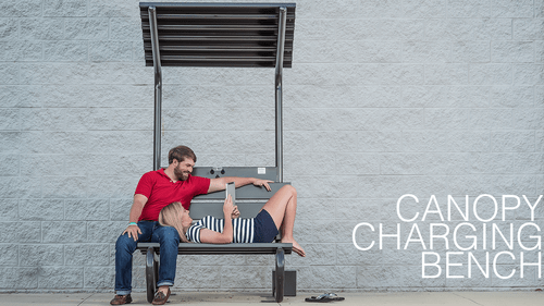 Solar Canopy Phone Charging Bench