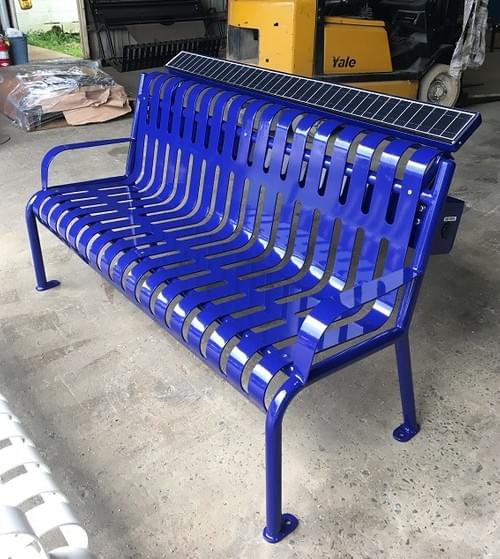 Uptown Solar Charging Bench