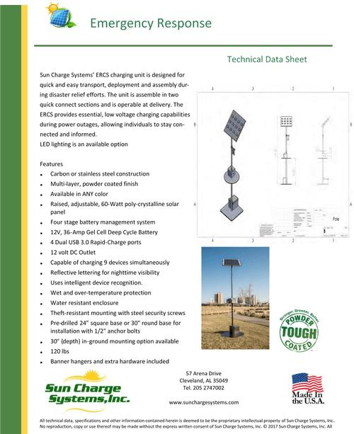 Emergency Solar Charging Stations