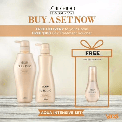 SHISEIDO PROFESSIONAL Aqua Intensive 500ml Shampoo + 500ml Treatment BUNDLE (Best for Weak Hair)