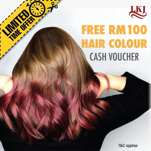 BUY RM100, FREE RM100 For Colour Credit with the Hair Experts