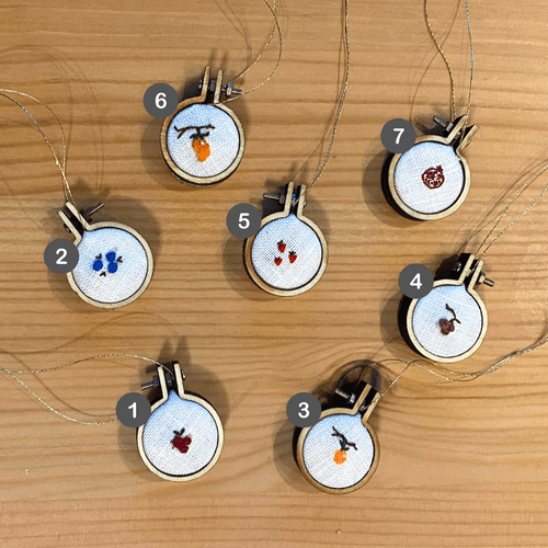 Micro-embroidery wall hangings