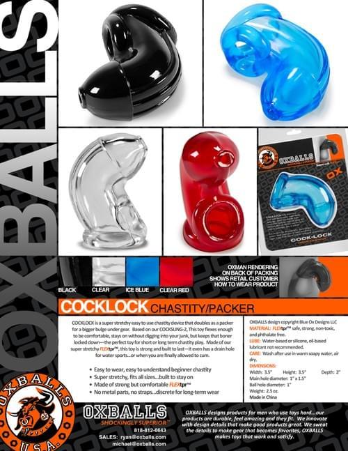 COCK-LOCK CHASTITY