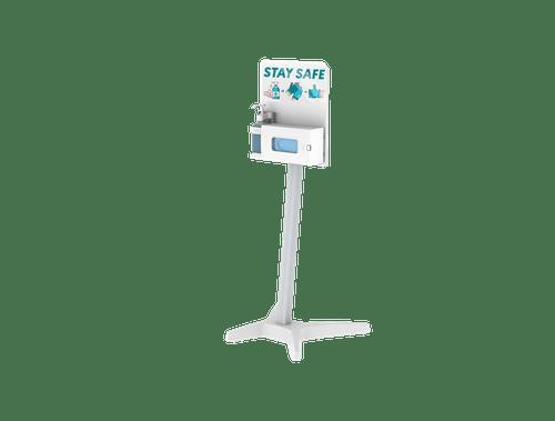 Hygine Station - One Hand Sanitizer Dispenser and Glove Box (No Wheels)