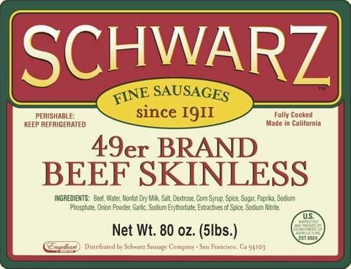 Schwarz 49er Brand Skinless Frank