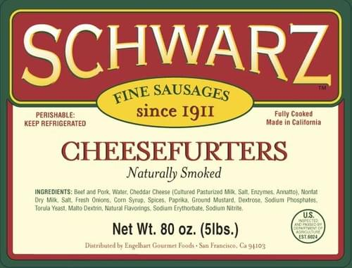 Schwarz Cheesefurters