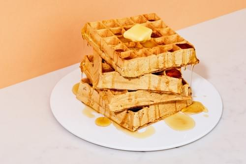 Classic Waffle with Butter and Syrup