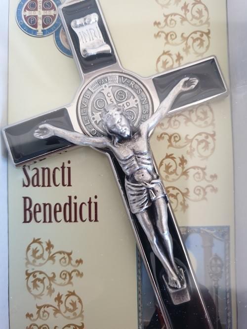 Black Saint Benedict Crucifix, 18.5cm (Italy)