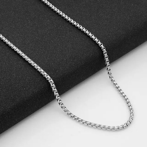 2.4 mm Round Box Chain Stainless Steel, 24""