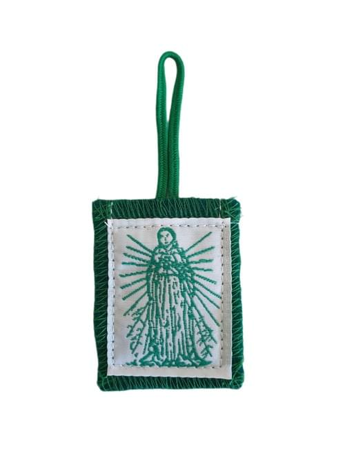 Green Wallet Scapular  by Rose Scapular Corp