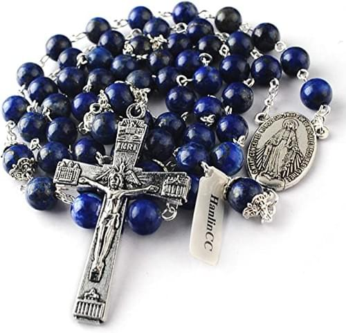 Lapis Lazuli Rosary Beads, High Quality Stone Beads