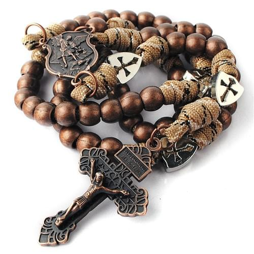 Rugged Copper Paracord Rosary