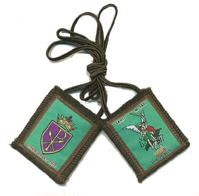 St.Michael Brown Mt.Carmel Scapular, Durable