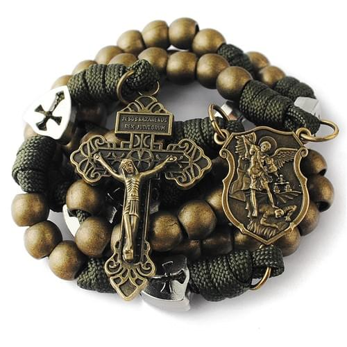 Rugged Bronze Paracord Rosary