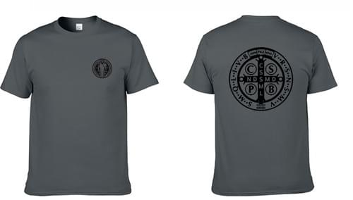 Saint Benedict Dark Grey T - Shirt