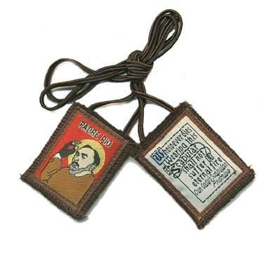 Saint Padre Pio Brown Scapular ( USA )