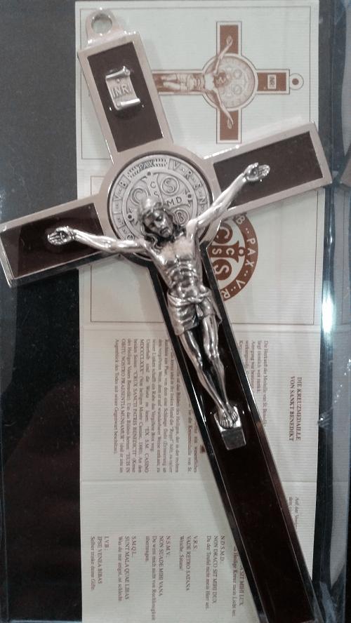 Brown Saint Benedict Crucifix, 18.5cm ( Italy )