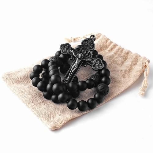 Matt Black Onyx Rosary