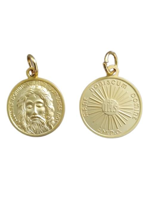 Holy Face of Jesus Medal, Matt Gold , 2.2 cm