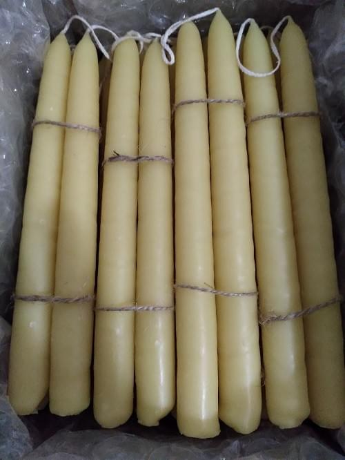 100% Beeswax Candles (Pair)