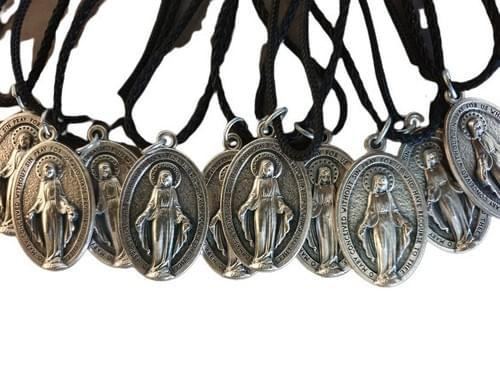 Large Miraculous Medals on a Cord