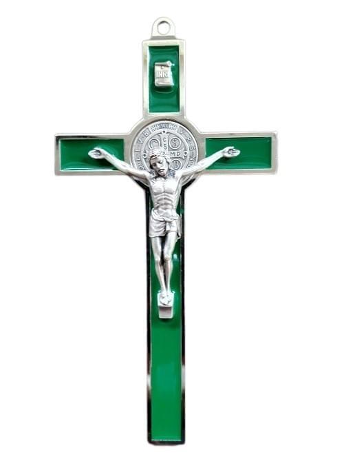 Green Saint Benedict Crucifix, 18.5cm ( Italy )