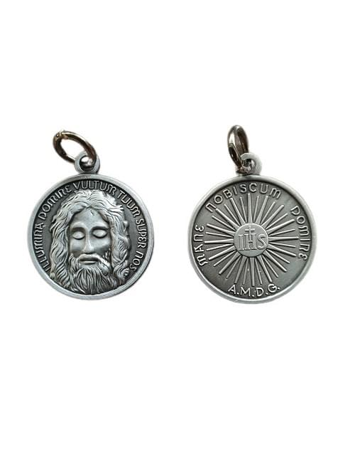 Holy Face of Jesus Medal, (Antique Tin) , 2.2 cm