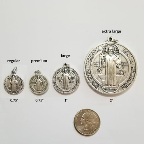 "Saint Benedict Medals, 1"",   High Quality, Large ( Italy ) or Pack of 10"