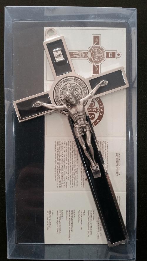 Black Saint Benedict Crucifix , 18.5cm ( Italy )