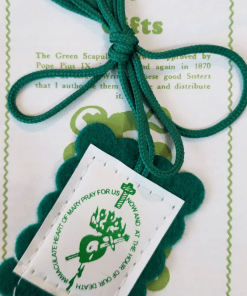 Green Scapular and leaflet
