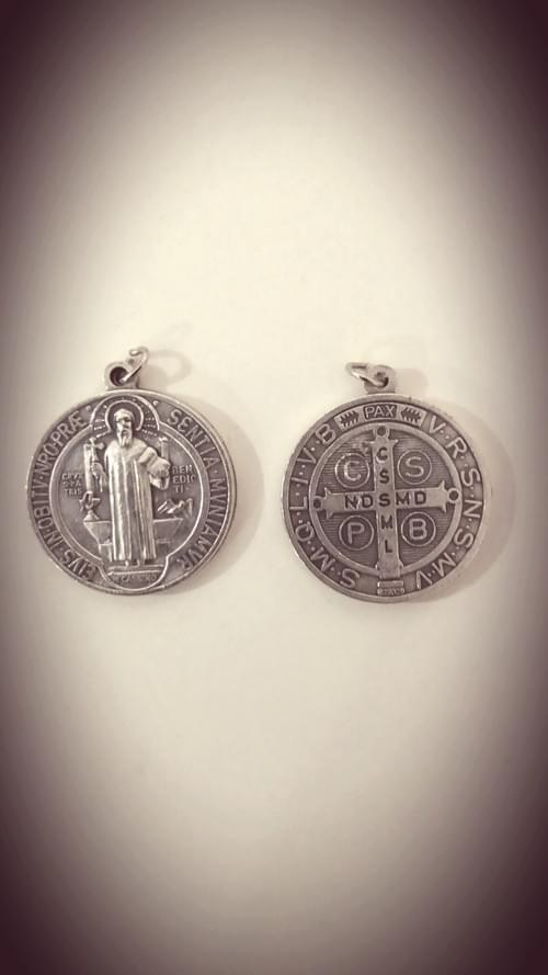 "Saint Benedict Medal 1"" , High Quality, Large ( Italy )"