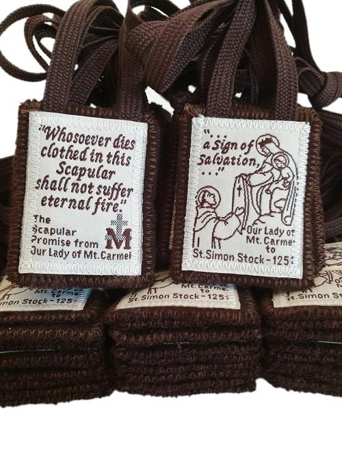 Sturdy Traditional Brown Scapular