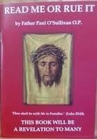 Read Me or Rue It by Father Paul O'Sullivan, A powerful booklet on the Holy Souls in Purgatory