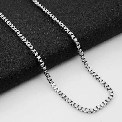 2.5 mm Box Chain Stainless Steel, 24""